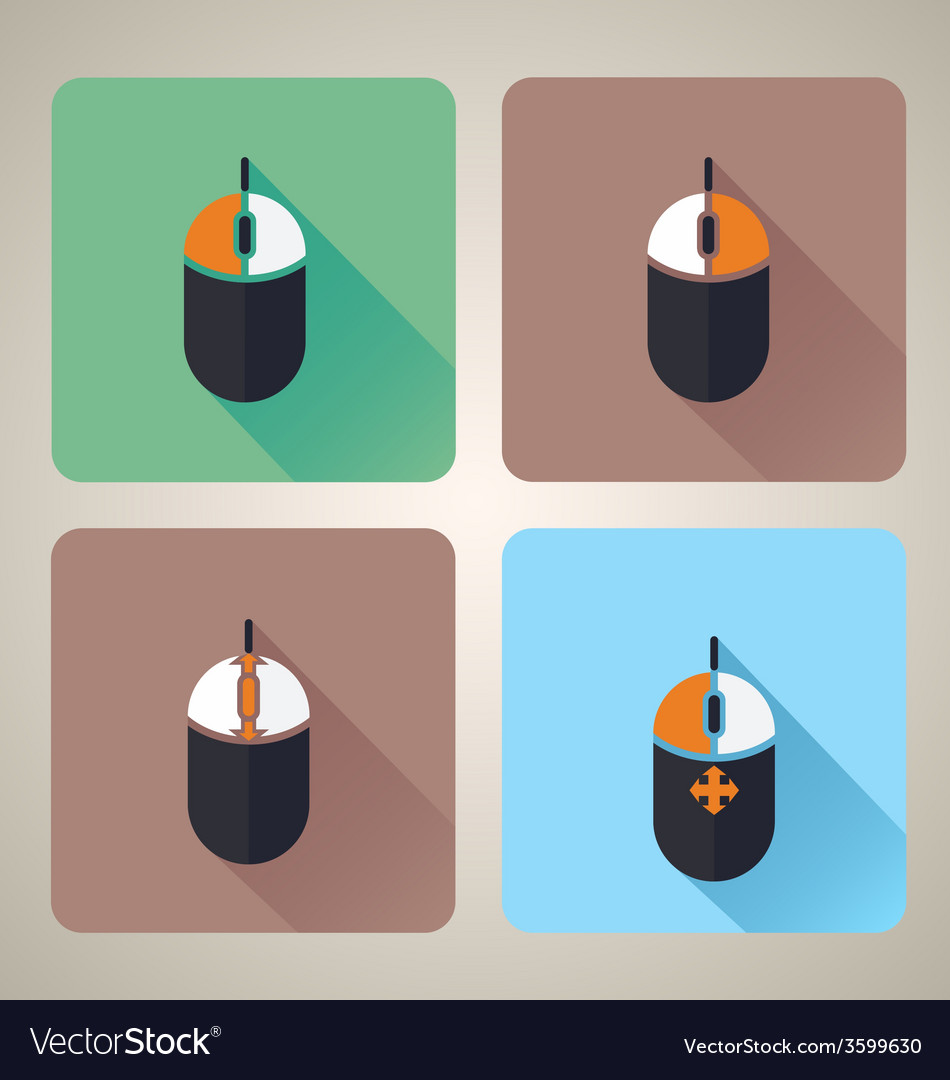 Computer mouse icons vector | Price: 1 Credit (USD $1)