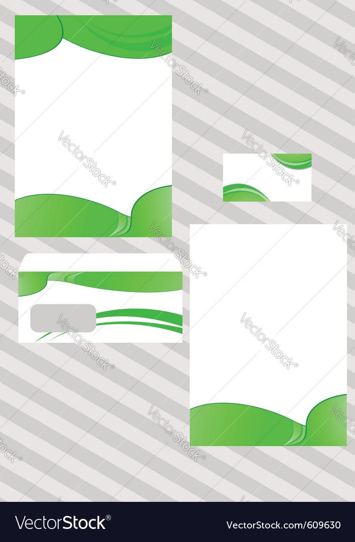 Corporate ecological design template vector | Price: 1 Credit (USD $1)