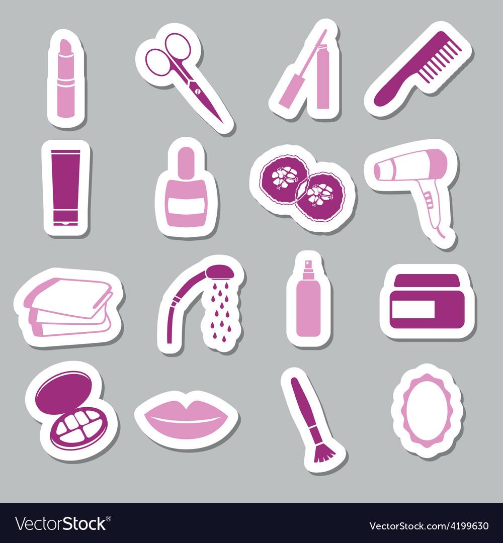 Cosmetics stickers vector | Price: 1 Credit (USD $1)