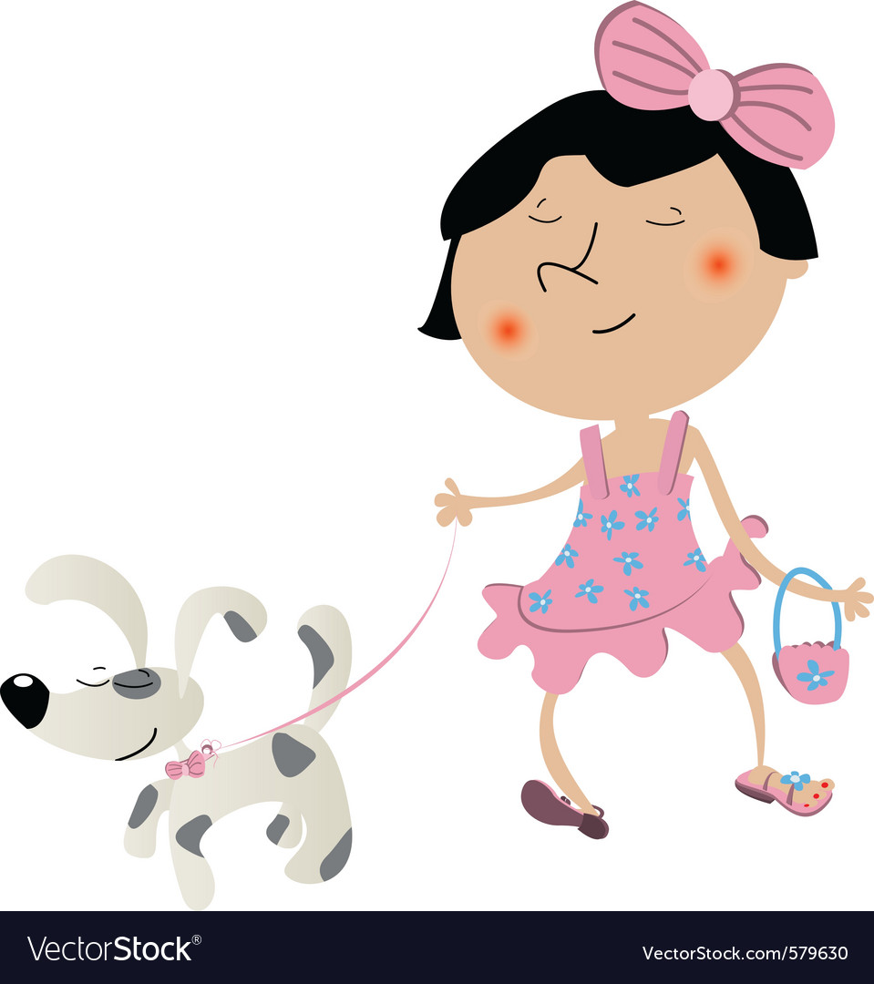 Cute little girl vector | Price: 1 Credit (USD $1)