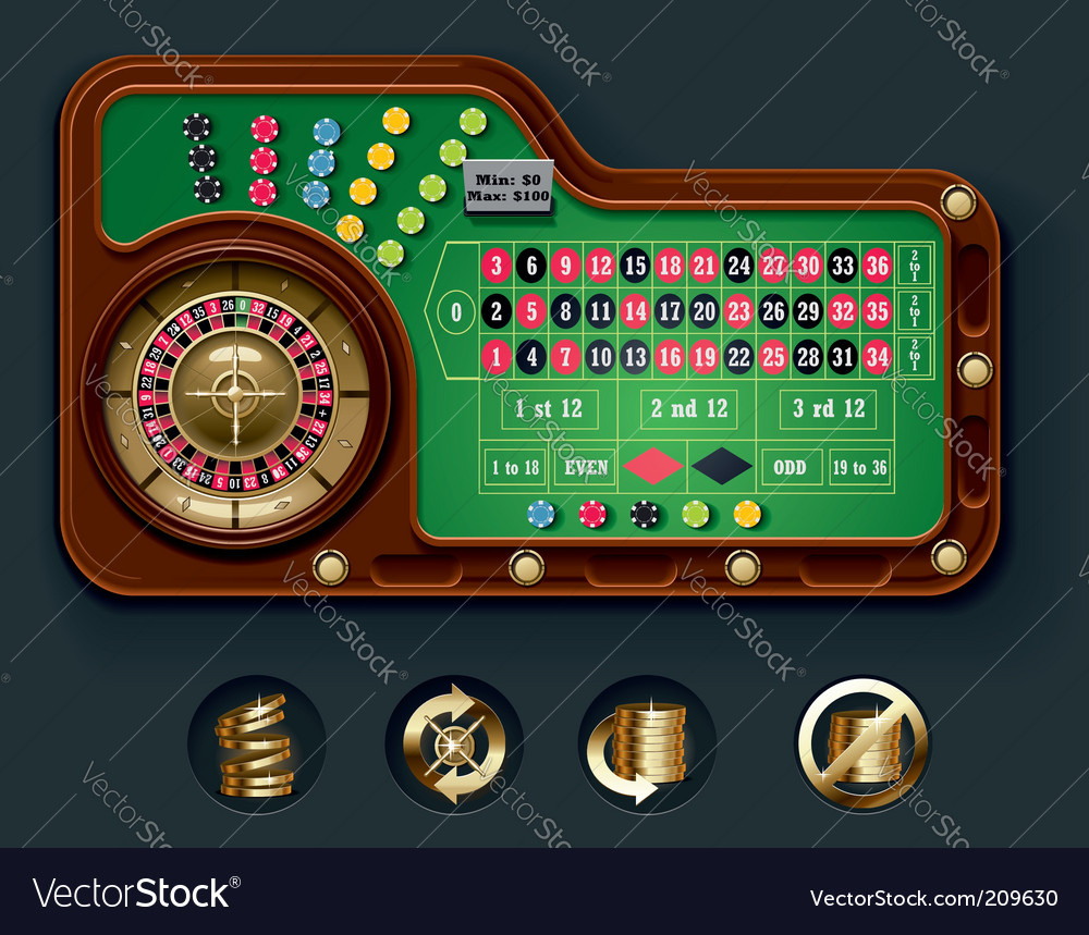 European roulette table layout vector | Price: 3 Credit (USD $3)