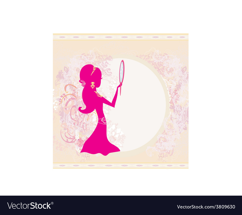 Girl and jewellerys - abstract background vector | Price: 1 Credit (USD $1)