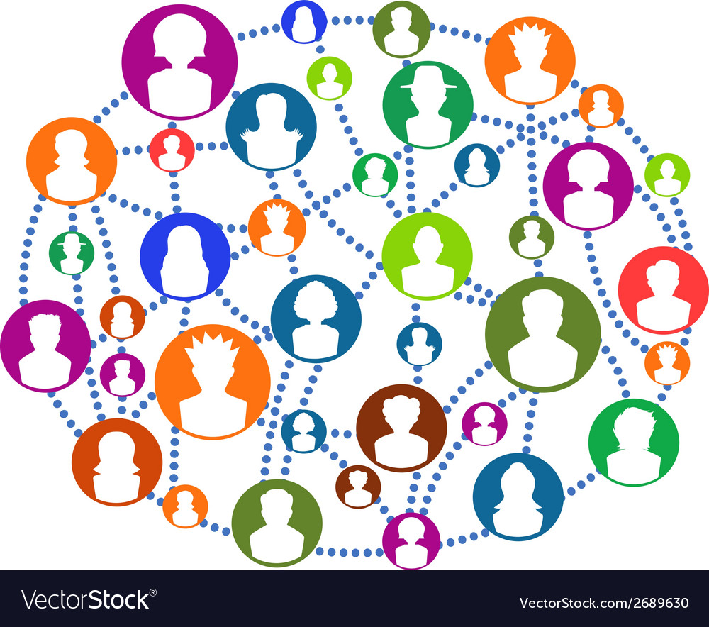Global connecting people network vector | Price: 1 Credit (USD $1)