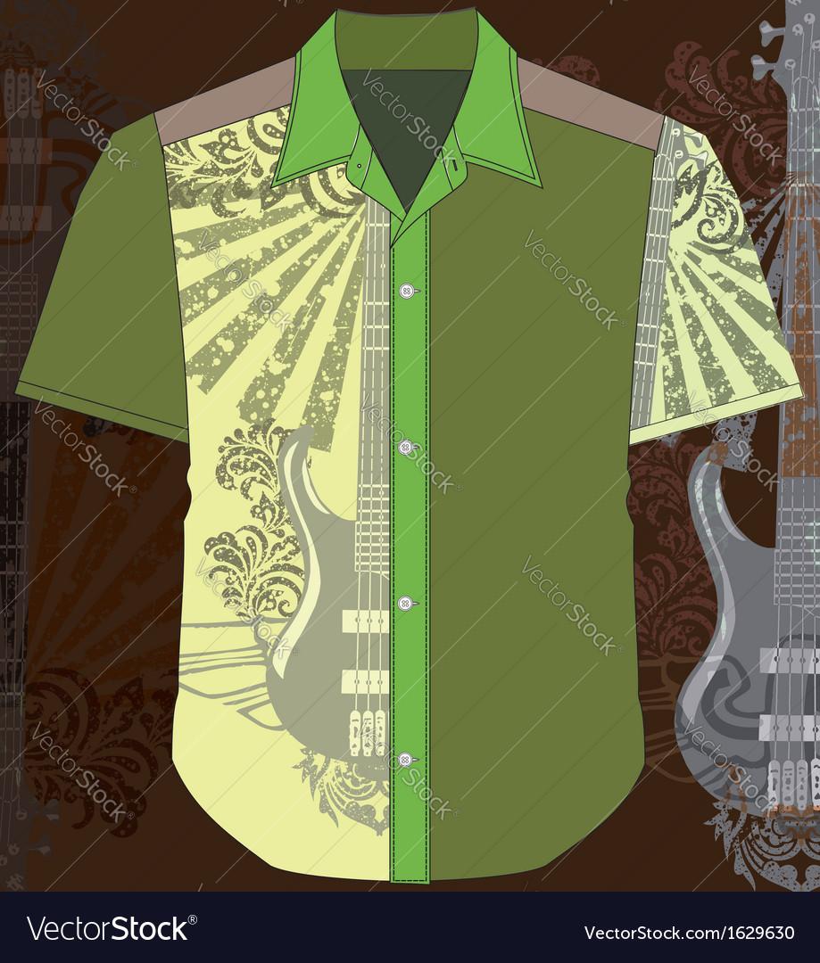 Guitar shirt vector   Price: 1 Credit (USD $1)