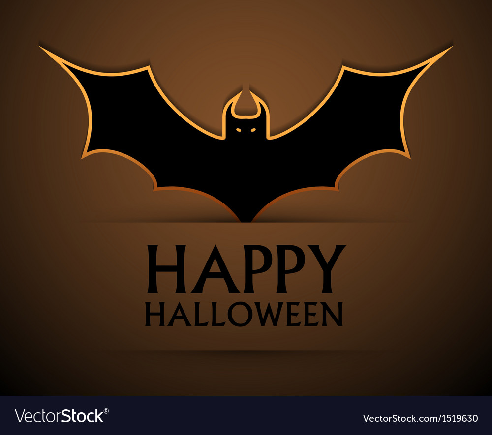 Happy halloween card with bat vector | Price: 1 Credit (USD $1)