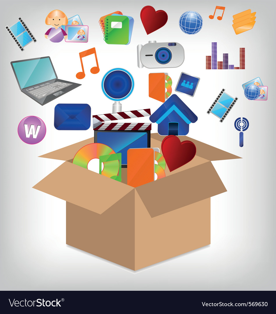 Multimedia carton vector | Price: 1 Credit (USD $1)