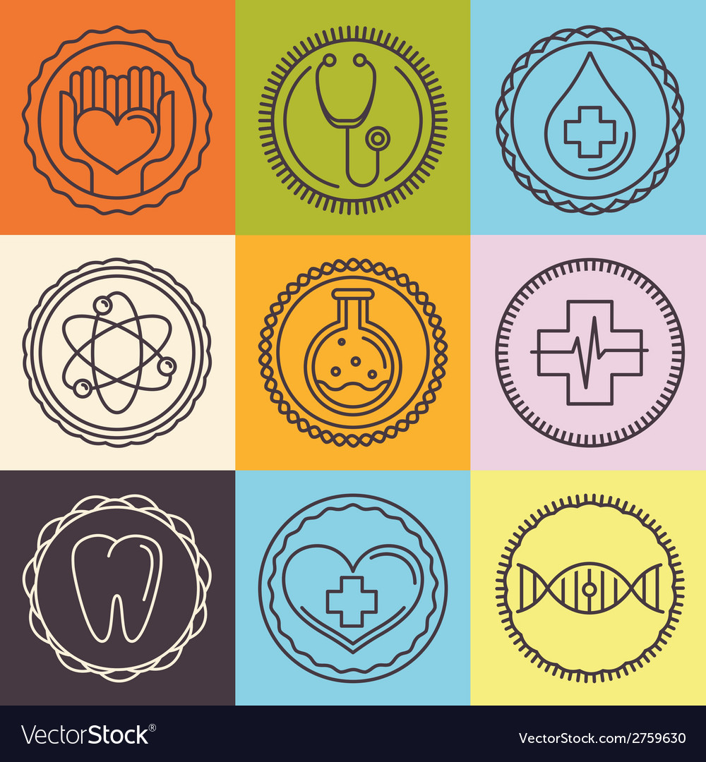 Outline logos - healthcare and medicine vector | Price: 1 Credit (USD $1)