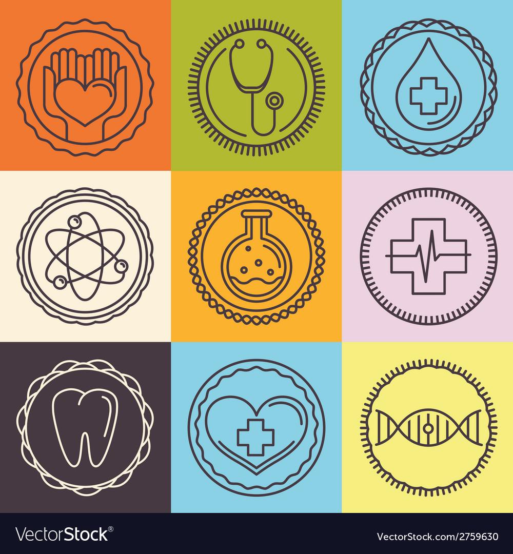 Outline logos - healthcare and medicine vector | Price: 1 Credit (USD $1)