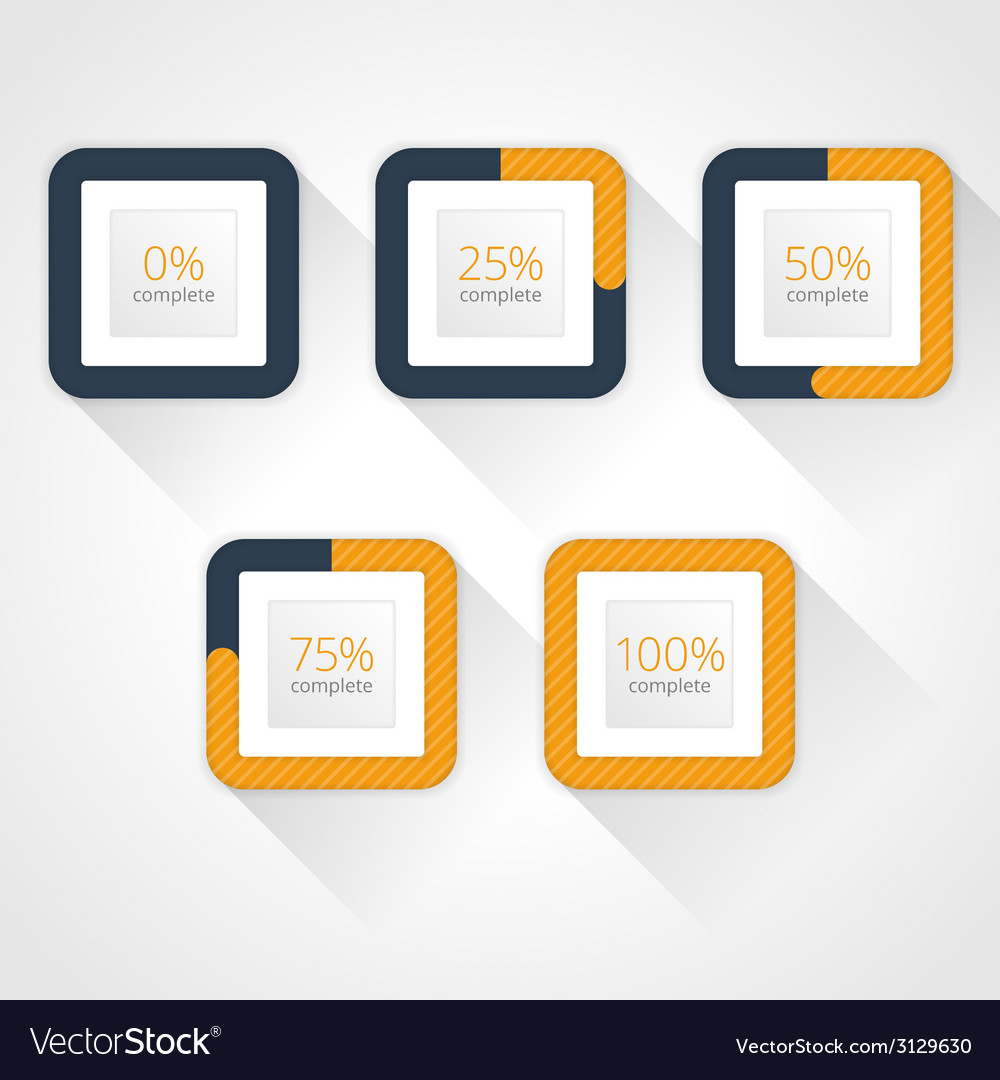 Progress bars for website and applications vector | Price: 1 Credit (USD $1)