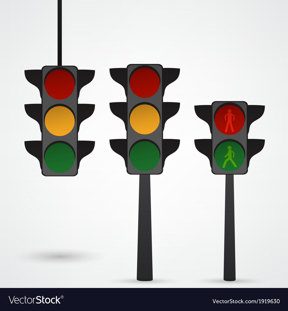 Traffic lights icon vector | Price: 1 Credit (USD $1)