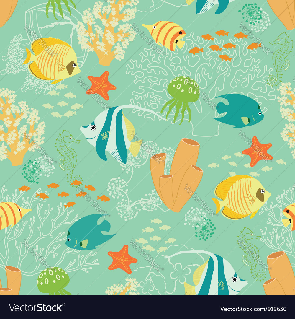 Underwater pattern vector | Price: 3 Credit (USD $3)