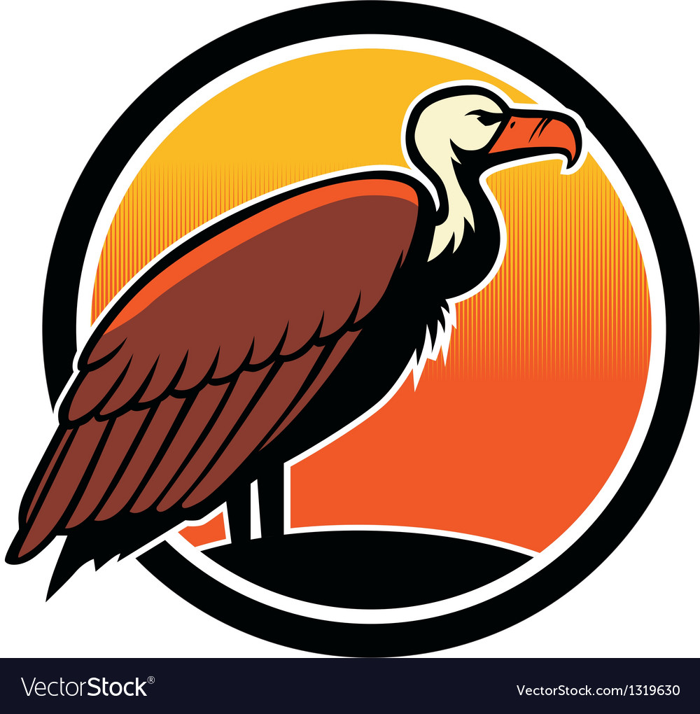 Vulture bird mascot vector | Price: 1 Credit (USD $1)