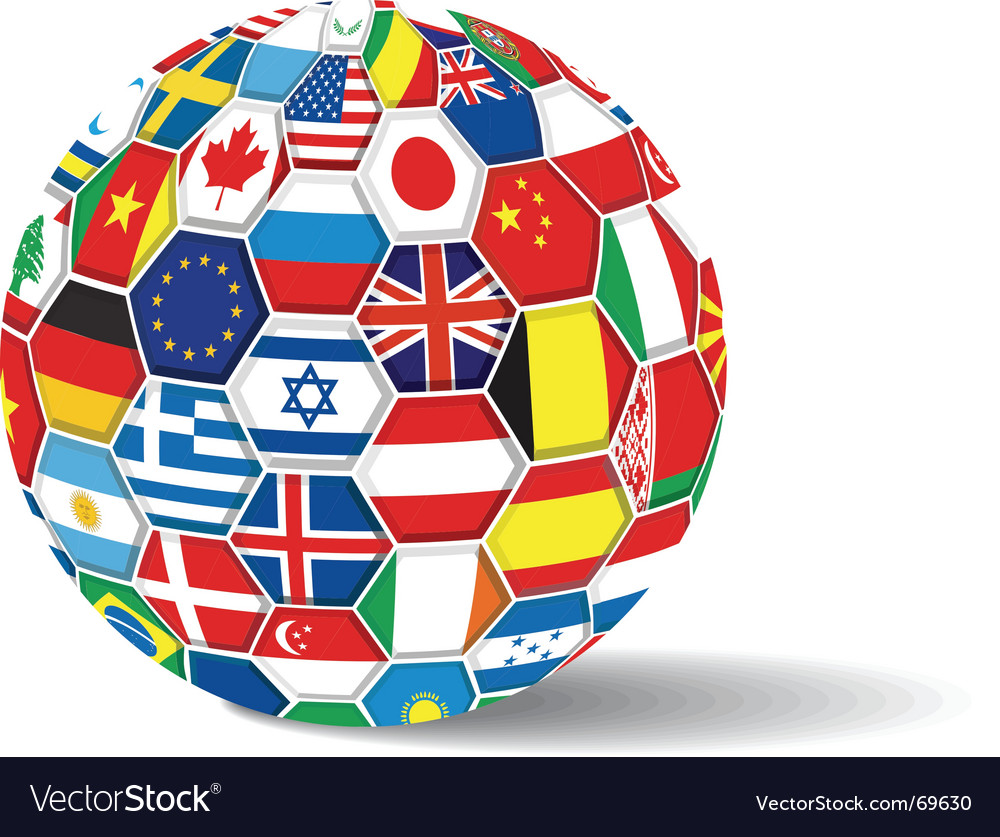 World flags ball vector | Price: 1 Credit (USD $1)