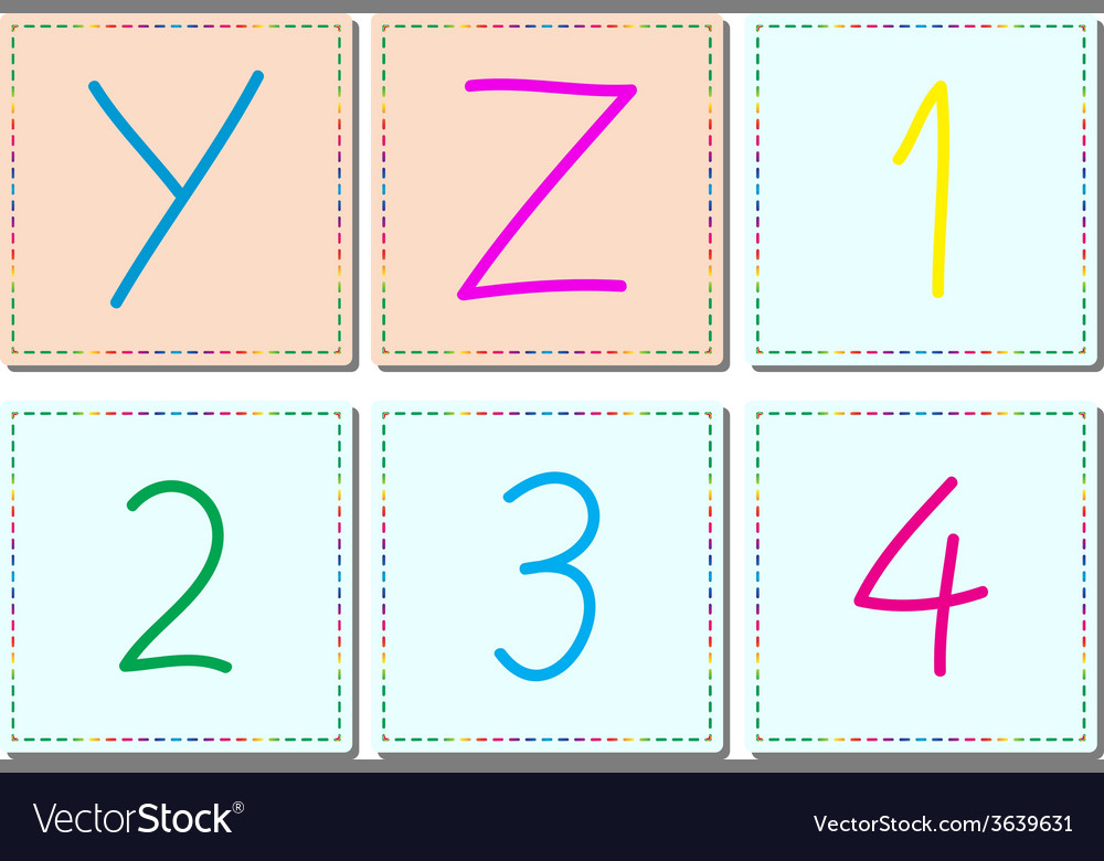 Alphabets and numbers set 5 vector | Price: 1 Credit (USD $1)
