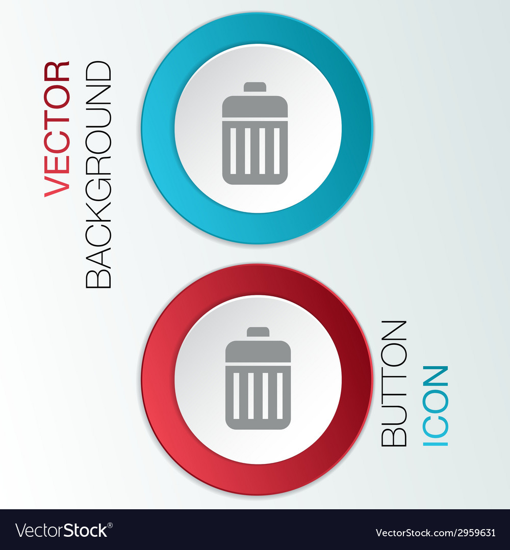 Basket garbage vector | Price: 1 Credit (USD $1)
