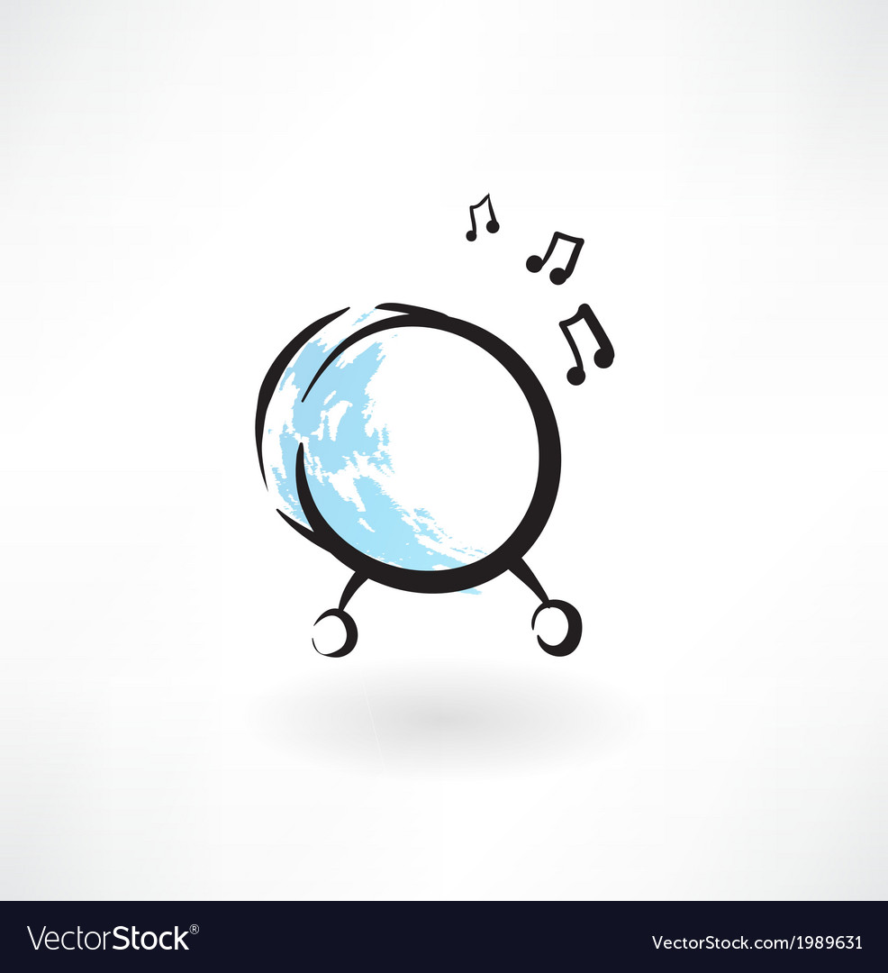 Drum grunge icon vector   Price: 1 Credit (USD $1)