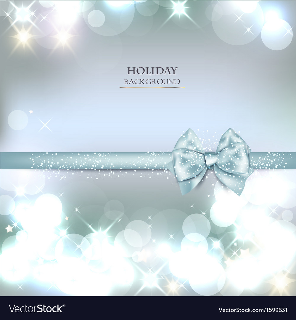 Elegant christmas background with blue bow and vector | Price: 1 Credit (USD $1)