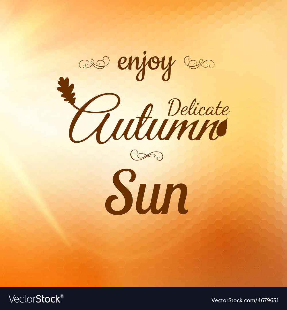 Enjoy autumn background eps 10 vector | Price: 1 Credit (USD $1)