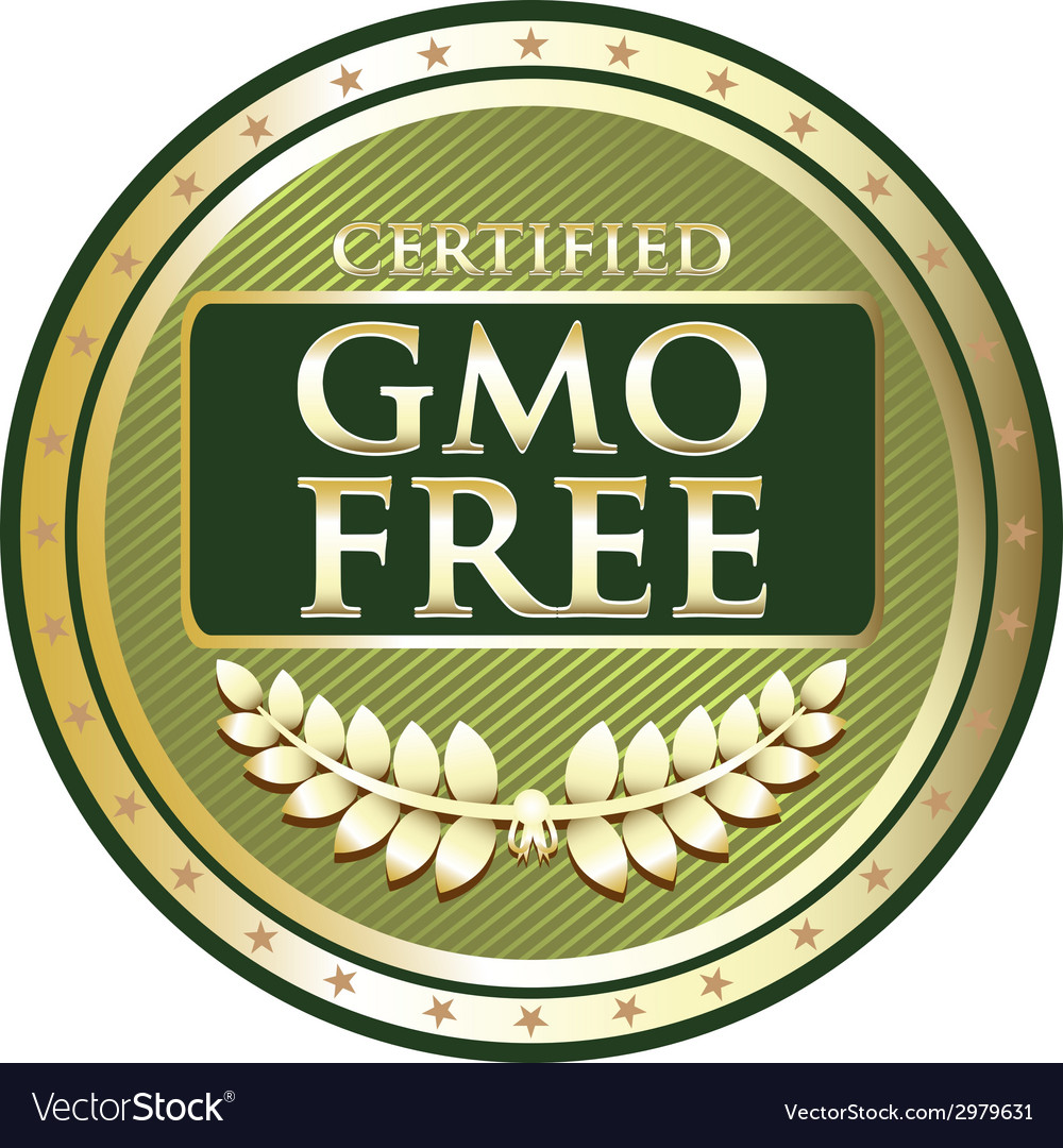 Gmo free green label vector   Price: 1 Credit (USD $1)
