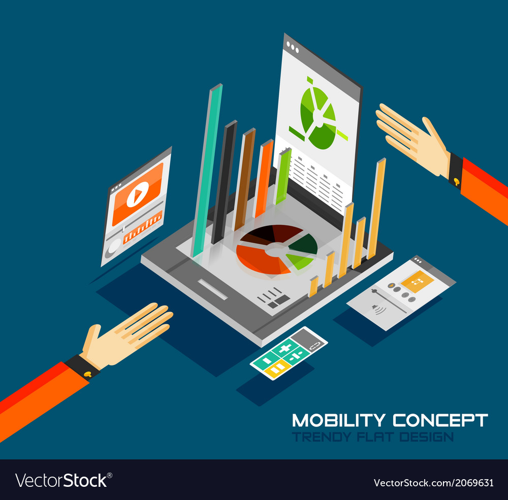 Mobility concept flat design vector | Price: 1 Credit (USD $1)