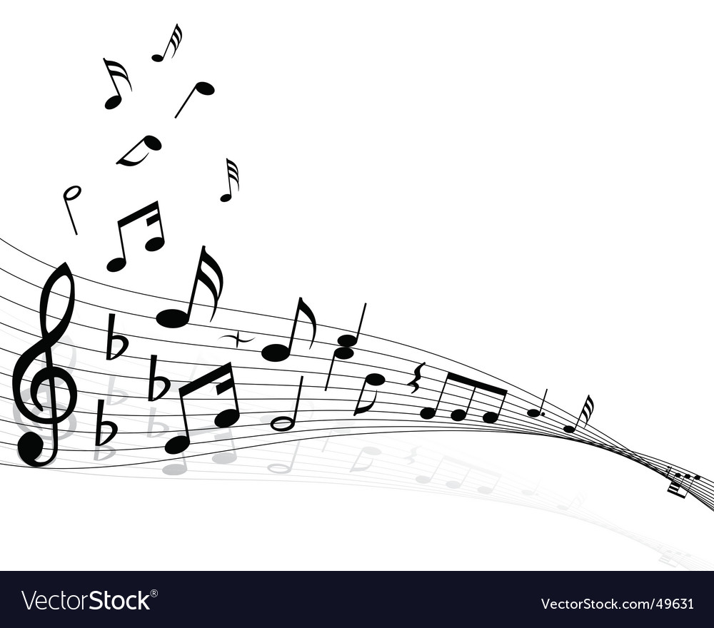 Musical notes backgrounds vector | Price: 1 Credit (USD $1)