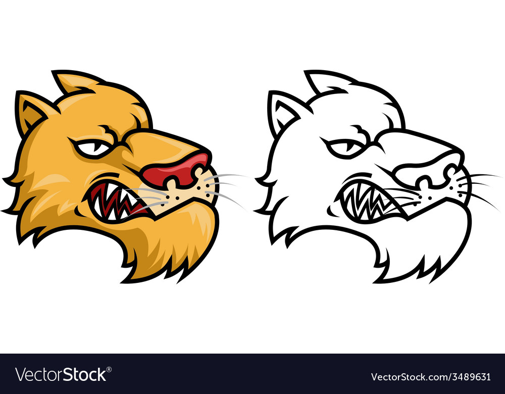 Puma head 2 version vector | Price: 1 Credit (USD $1)