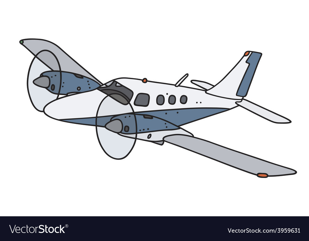 Small twin engine airplane vector | Price: 1 Credit (USD $1)