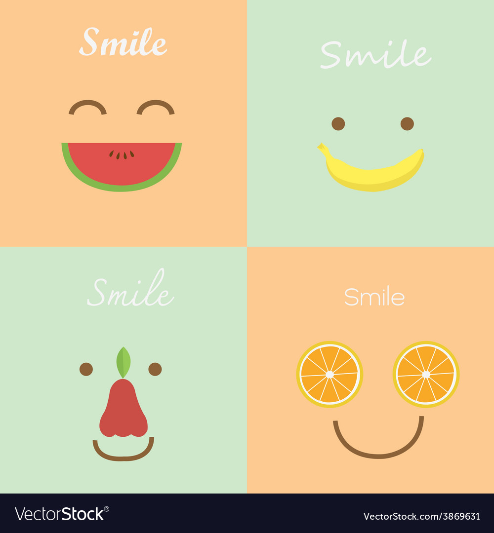 Smile fruit vector | Price: 1 Credit (USD $1)