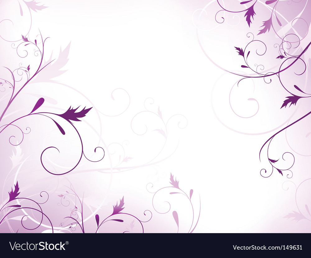 Violet floral frame vector | Price: 1 Credit (USD $1)