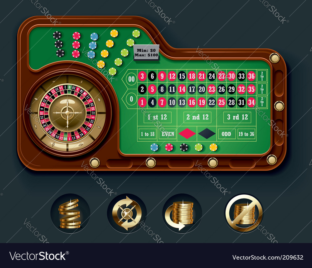 American roulette table layout vector | Price: 3 Credit (USD $3)