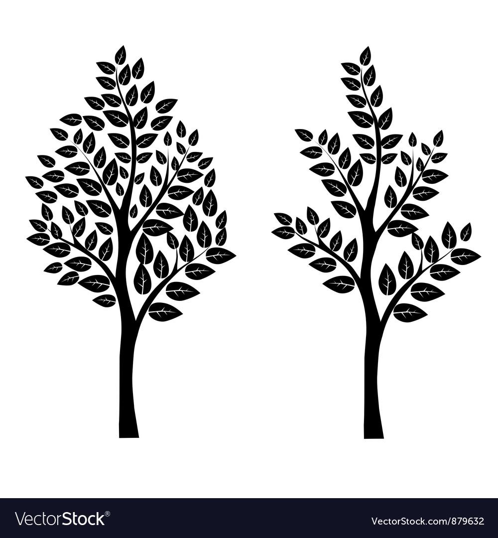 Black tree vector | Price: 1 Credit (USD $1)