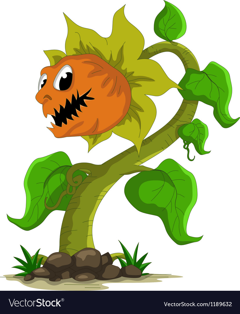 Carnivorous plant cartoon vector | Price: 1 Credit (USD $1)