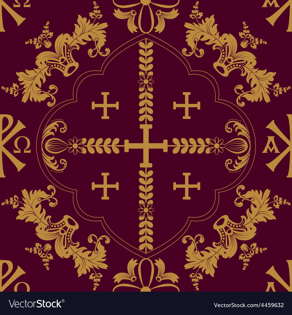 Classic orthodox seamless pattern vector | Price: 1 Credit (USD $1)