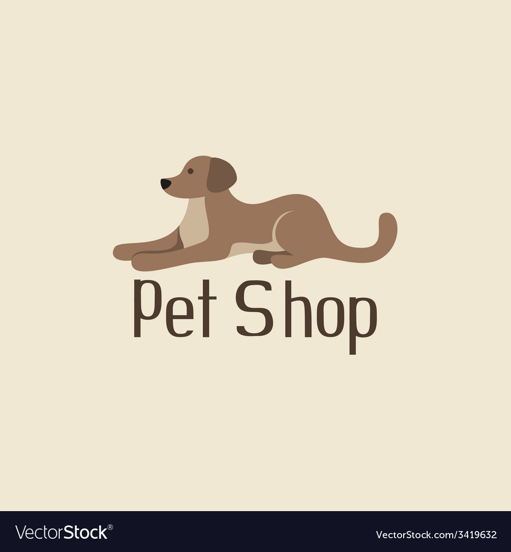 Cute pet shop logo with dog vector | Price: 1 Credit (USD $1)