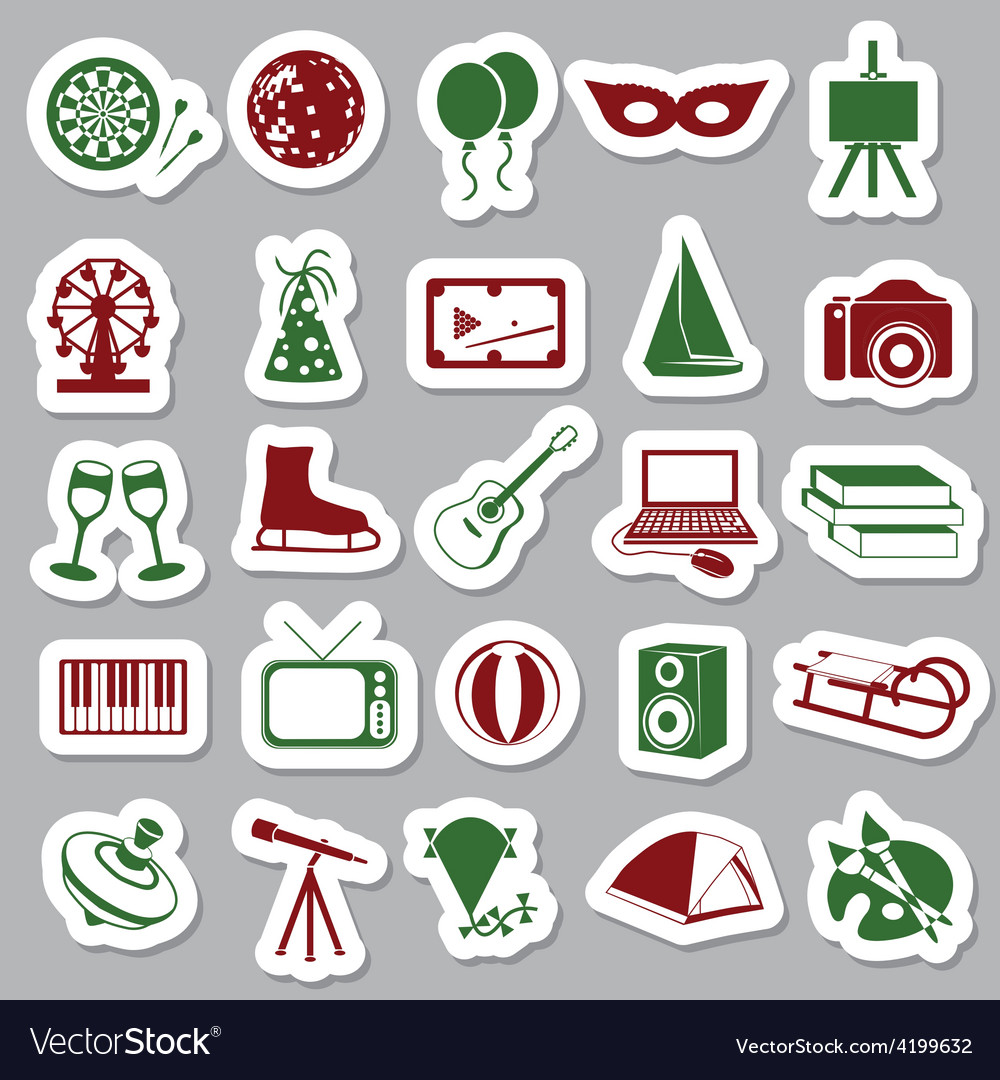 Entertainment stickers vector   Price: 1 Credit (USD $1)