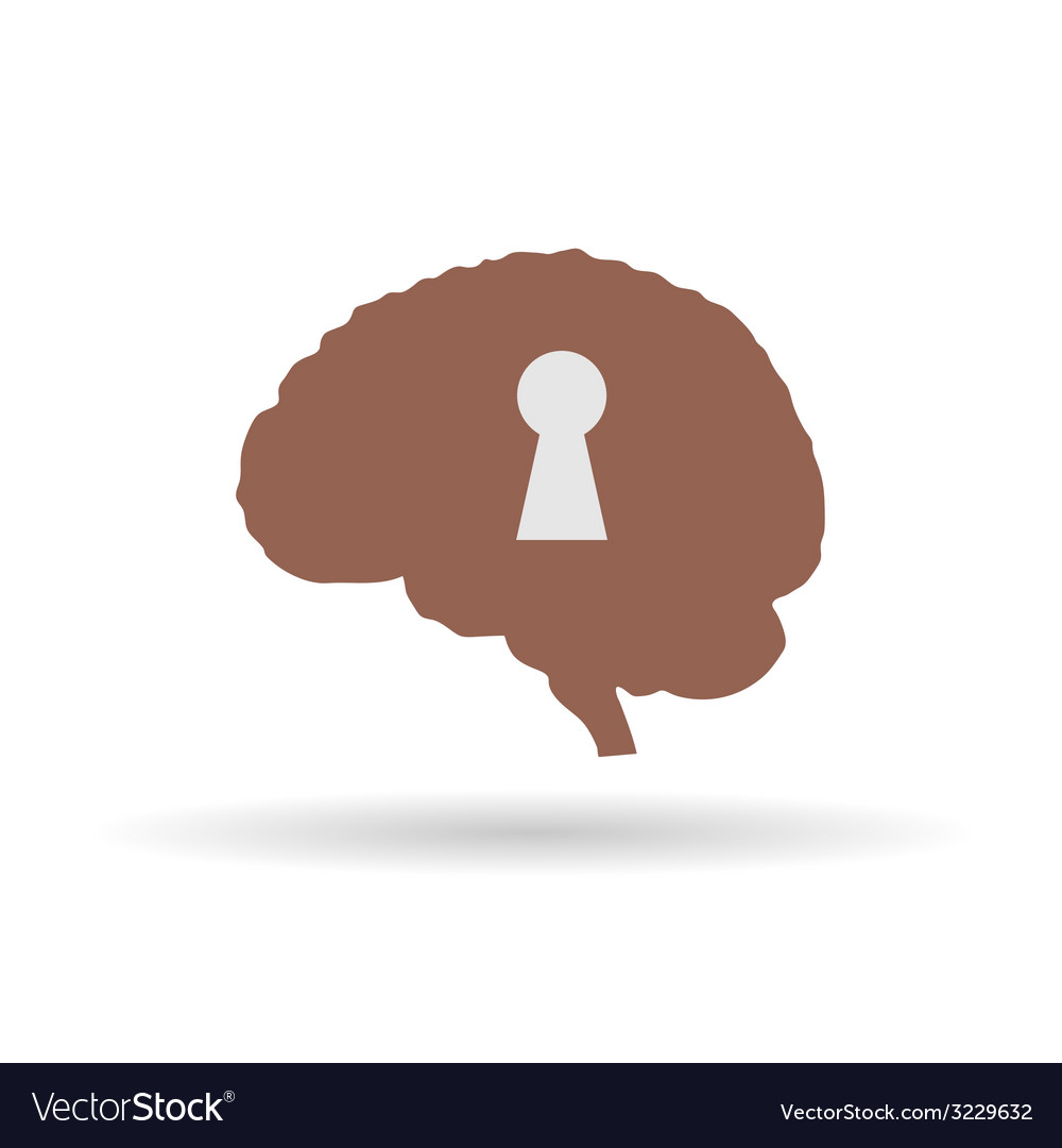 Keyhole on the brain vector | Price: 1 Credit (USD $1)