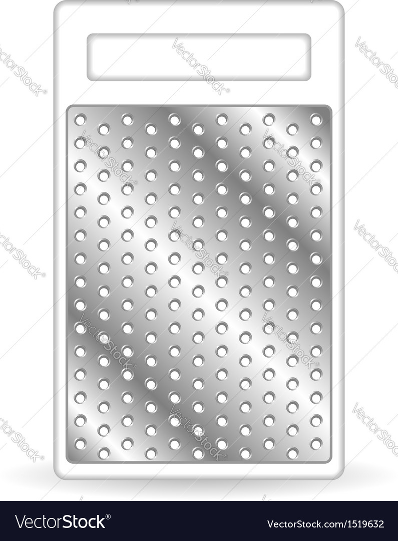 Metal grater isolated on white vector | Price: 1 Credit (USD $1)