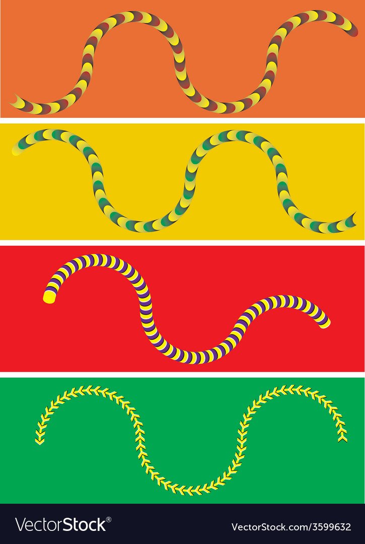 Moving snake vector | Price: 1 Credit (USD $1)