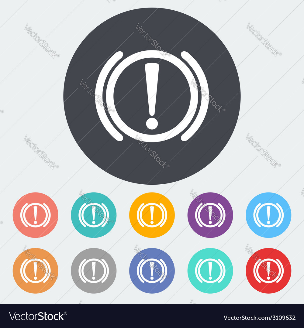 Notification of problems with the brake system vector | Price: 1 Credit (USD $1)