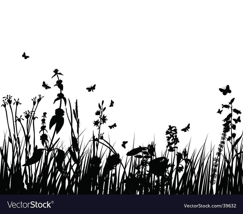 Plant silhouette vector | Price: 1 Credit (USD $1)