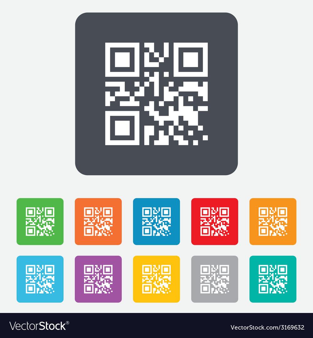Qr code sign icon scan code symbol vector | Price: 1 Credit (USD $1)