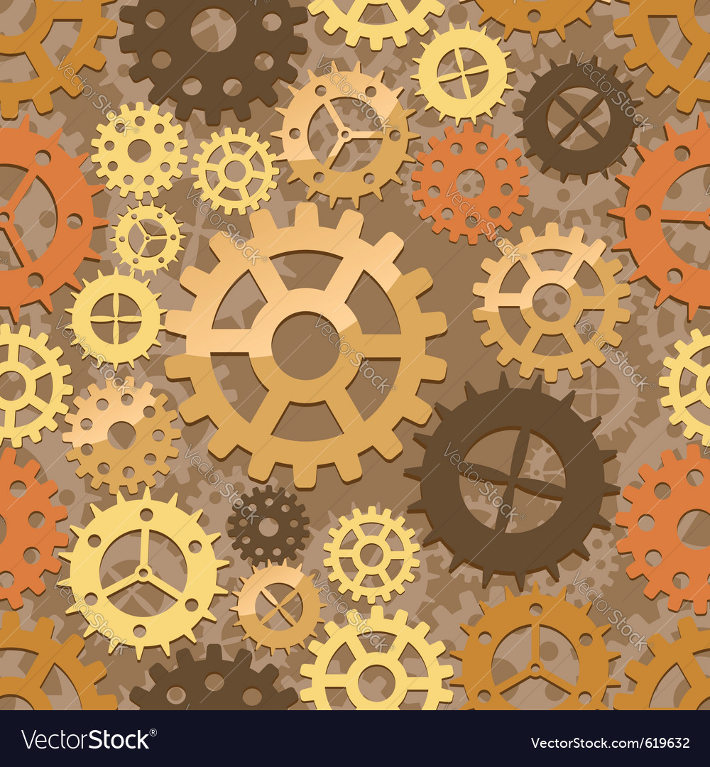 Seamless cogs background vector | Price: 1 Credit (USD $1)