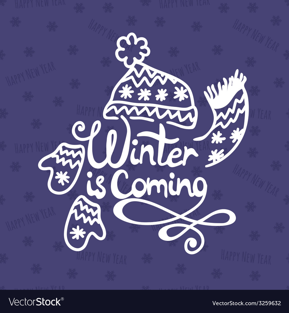 Winter is coming christmas background vector | Price: 1 Credit (USD $1)