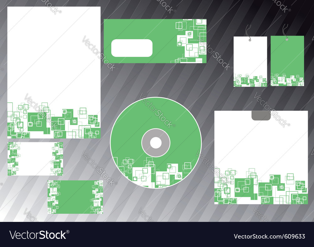 Abstract business template - green corporate style vector | Price: 1 Credit (USD $1)