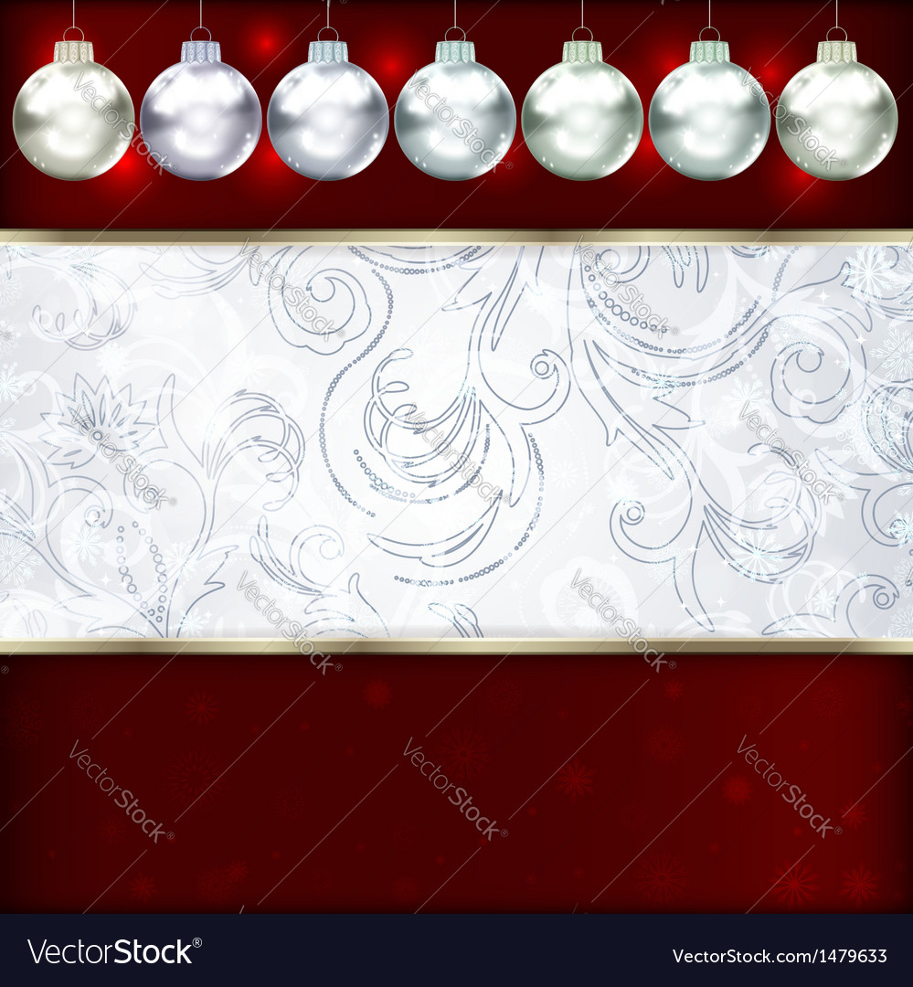 Background with christmas balls vector   Price: 1 Credit (USD $1)