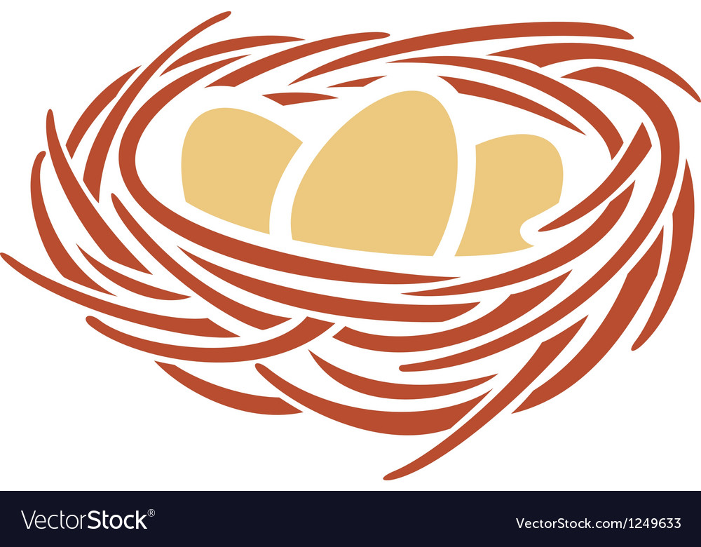 Eggs and nest vector | Price: 1 Credit (USD $1)