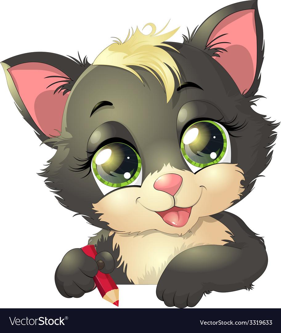 Little kitten vector | Price: 3 Credit (USD $3)