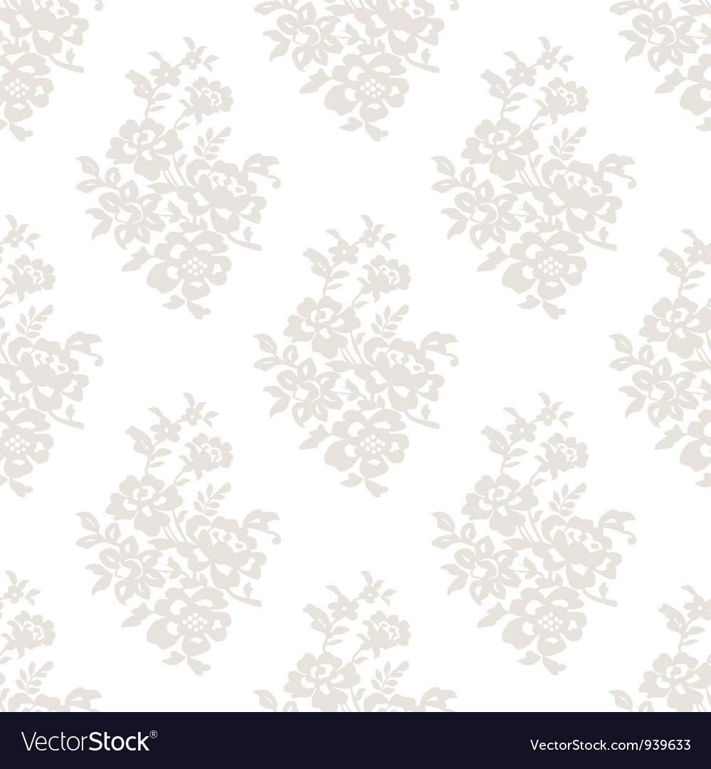 Seamless light floral wallpaper vector | Price: 1 Credit (USD $1)