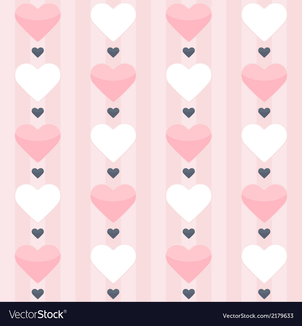 Seamless pattern with pink and white hearts on a vector | Price: 1 Credit (USD $1)