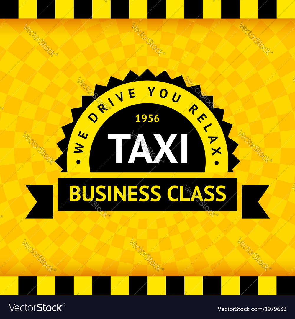 Taxi symbol with checkered background - 07 vector | Price: 1 Credit (USD $1)